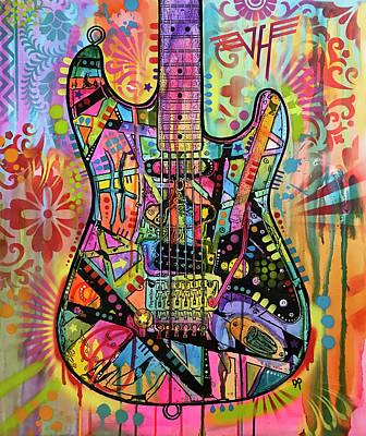 Van Halen Wall Art - Painting - Frankenstrat by Dean Russo Art
