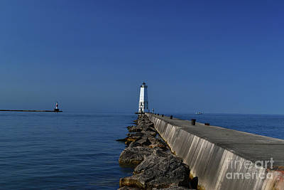 Photograph - Frankfort Lighthouse In Michigan by Amy Lucid