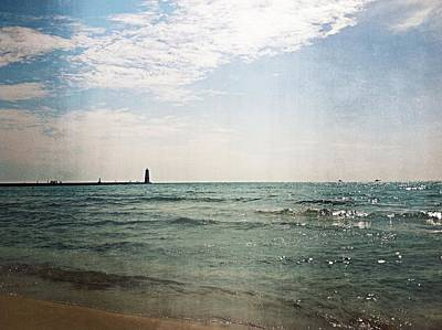 Photograph - Frankfort North Of Pier by Michelle Calkins