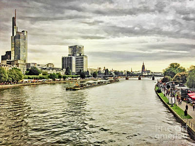 Photograph - Frankfurt Am Main - Riverbank by Gabriele Pomykaj
