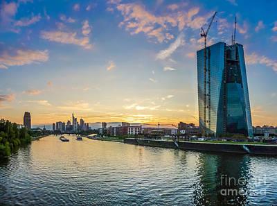 Cityscape Photograph - Frankfurt Am Main Skyline At Sunset by JR Photography