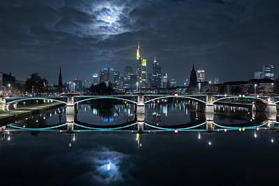Frankfurt Photograph - Frankfurt At Full Moon by Mike