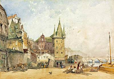 The Main Painting - Frankfurt The Main Quay by MotionAge Designs