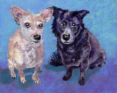 Painting - Frankie And Parker by Julie Maas