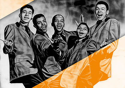 Frankie Lymon Collection Art Print by Marvin Blaine