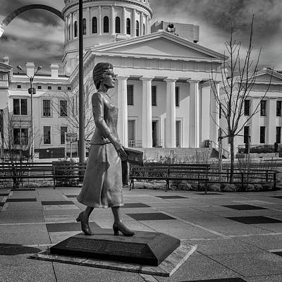 Photograph - Frankie Muse Freeman Bnw 7r2_dsc5392_02052018-hdr by Greg Kluempers