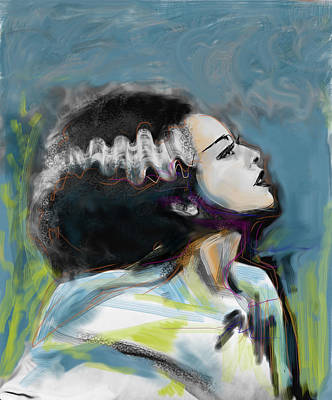 Bride Of Frankenstein Mixed Media - Frankie's Bride by Russell Pierce
