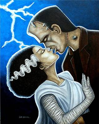 Bride Of Frankenstein Painting - Frankie's Dream by Al  Molina
