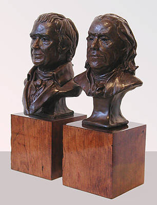 Sculpture - Franklin And Marshall by John Gibbs