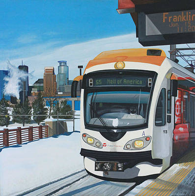 Painting - Franklin Avenue Station by Jude Labuszewski