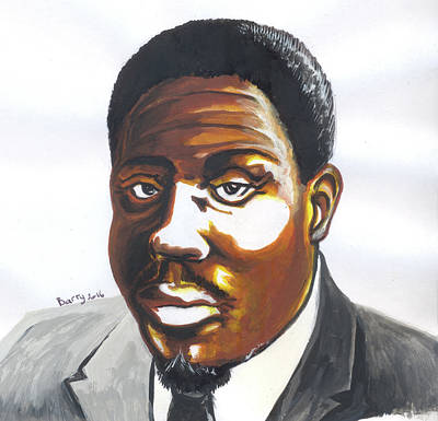 Painting - Franklin Boukaka by Emmanuel Baliyanga