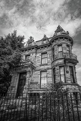 Franklin Castle In Black And White Art Print by Michael Demagall