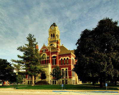 Franklin County Courthouse - Hampton Iowa Art Print