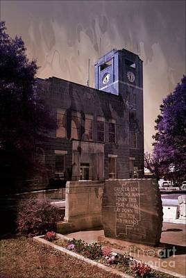 Mixed Media - Franklin County Courthouse Ozark Arkansas by Bob Pardue
