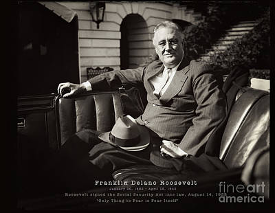 Photograph - Franklin Delano Roosevelt - Remastered by Carlos Diaz