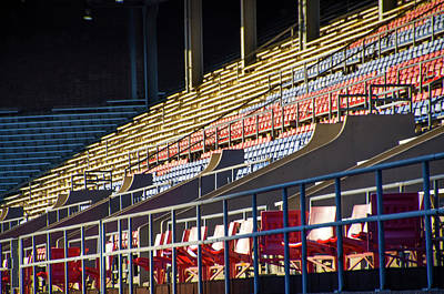 Phillies Digital Art - Franklin Field - Empty Stands by Bill Cannon