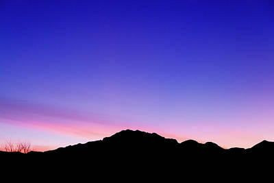 Photograph - Franklin Mountains At Twilight by Steven Green