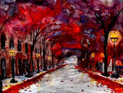 Donny Painting - Franklin Park In B Minor by Don Seib