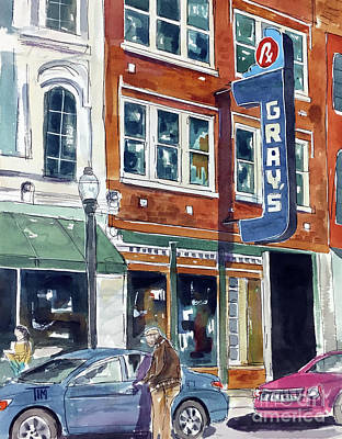 Painting - Franklin Past And Present by Tim Ross