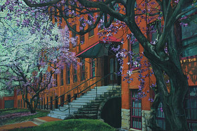 Painting - Franklin Square In Bloom by Maria Rizzo