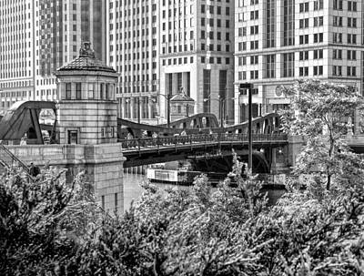 Photograph - Franklin Street Bridge Black And White by Christopher Arndt