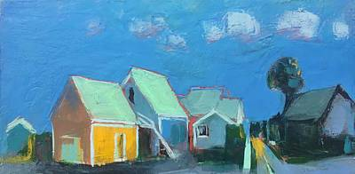 Encaustic Painting - Franklin Street Cottages by Marc Kundmann