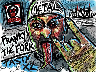 Digital Art - Franky The Fork by Joe Bloch