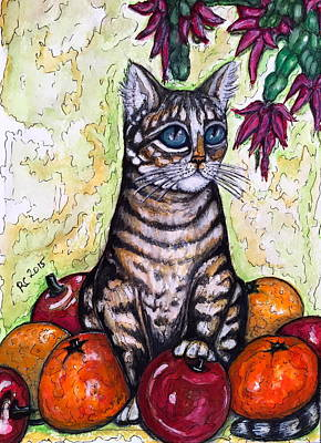 Painting - Franky With Apples And Oranges by Rae Chichilnitsky