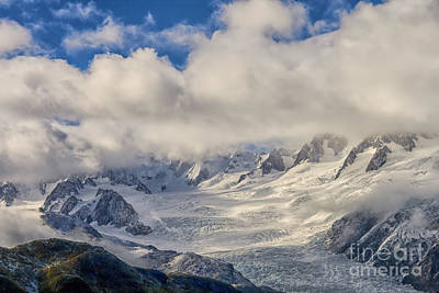Photograph - Franz Joseph Glacier From The Air by Patricia Hofmeester