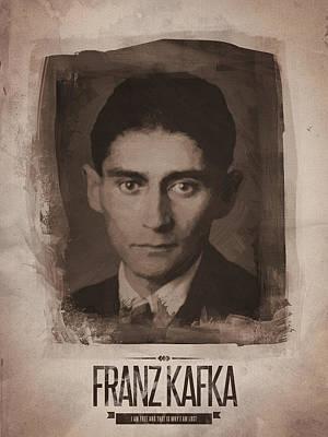 Portrait Digital Art - Franz Kafka by Afterdarkness