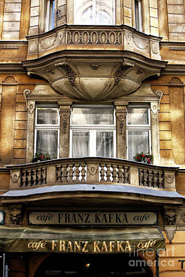 Photograph - Franz Kafka Cafe by John Rizzuto