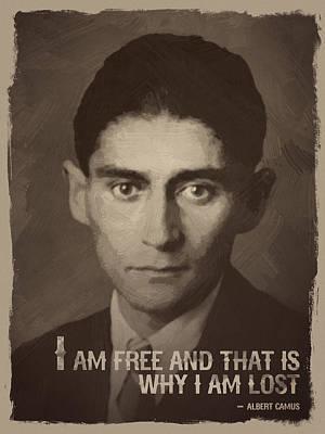 Inspirational Quote Digital Art - Franz Kafka Quote by Afterdarkness