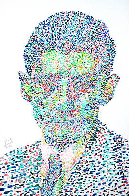 Franz Kafka Watercolor Portrait.1 Original by Fabrizio Cassetta