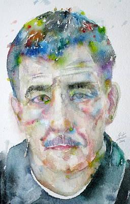 Painting - Franz Kline - Watercolor Portrait by Fabrizio Cassetta