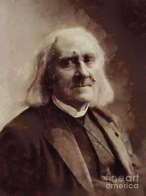 Franz Liszt, Composer By Sarah Kirk Art Print