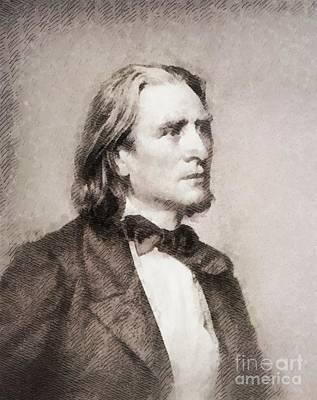 Franz Liszt, Composer Art Print by John Springfield