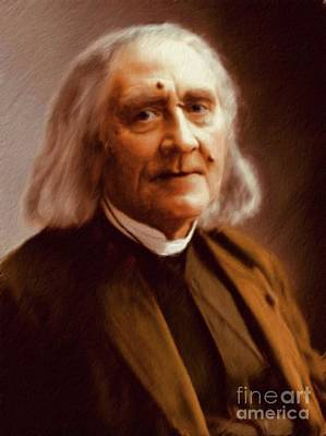 Music Paintings - Franz Liszt, Composer by Esoterica Art Agency