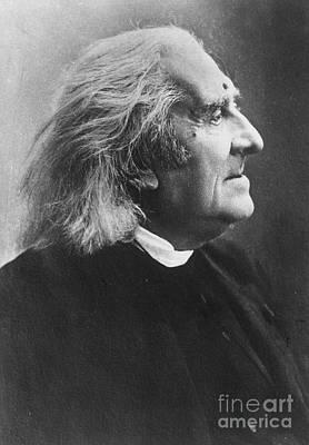 Photograph - Franz Liszt by Granger