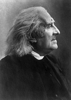 Photograph - Franz Liszt Profile Picture by War Is Hell Store
