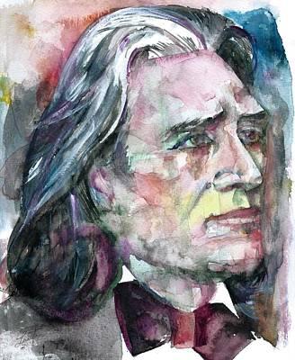 Painting - Franz Liszt - Watercolor Portrait.2 by Fabrizio Cassetta