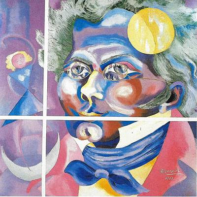 Schubert Painting - Franz Peter Schubert Oil Portrait by Preciada Azancot