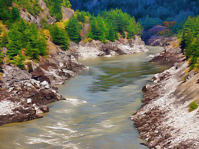 Digital Art - Fraser Canyon At Hells Gate by Leslie Montgomery