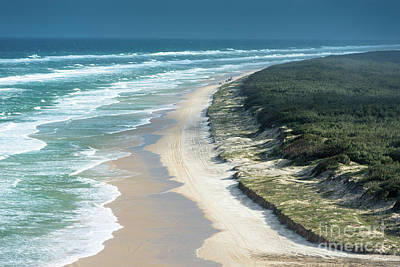 Photograph - Fraser Island 100 Mile Beach by Andrew Michael