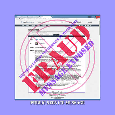 Digital Art - Fraud Email Exposed by Barbara Tristan