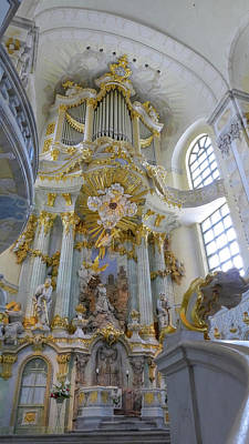 Photograph - Frauenkirche Interior1 by Herb Paynter