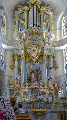 Photograph - Frauenkirche Interior2 by Herb Paynter