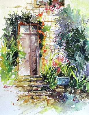 Painting - Frayssinet Doorway, France by Rae Andrews