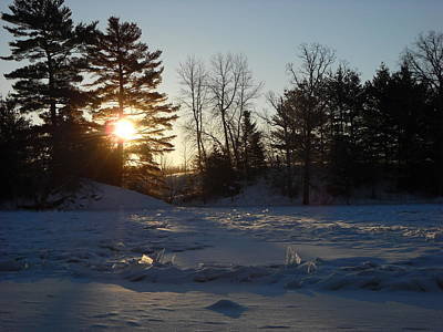 Photograph - Frazil Ice Chunks At Sunrise by Kent Lorentzen