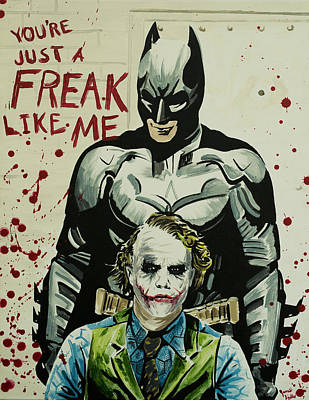 Heath Ledger Wall Art - Painting - Freak Like Me by James Holko
