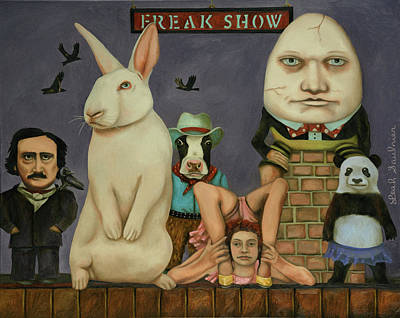 Art Print featuring the painting Freak Show by Leah Saulnier The Painting Maniac